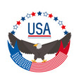beauty eagle with american ribbon symbol vector image vector image