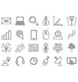 black life icons set vector image vector image
