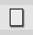 black wall picture or photograph frame mock up vector image vector image