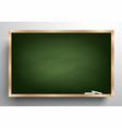 blackboard background and wooden frame vector image vector image