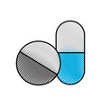 capsule drug isolated icon vector image vector image