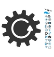 Cogwheel Rotation Icon With Copter Tools Bonus vector image vector image