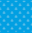 corner glass balcony pattern seamless blue vector image vector image