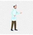 doctor man icon flat style vector image