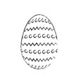 egg easter day vector image vector image