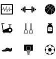 exercise icon set vector image