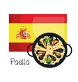 flag spain music design vector image vector image
