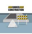 flat under construction concept with concrete vector image