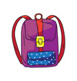 girl backpack vector image vector image