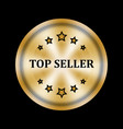 golden medal with five stars and top seller vector image