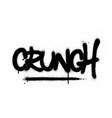 graffiti crunch word sprayed in black over white vector image