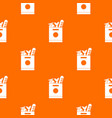 grocery bag with food pattern seamless vector image vector image