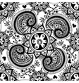 hand drawn abstract seamless gzhel pattern vector image