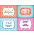 Happy Mothers day card set Typography letter font vector image vector image
