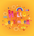 hello september greeting card vector image vector image