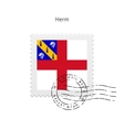 Herm Flag Postage Stamp vector image vector image