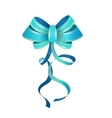 Isolated Blue Gift Bow vector image vector image