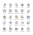 logistics delivery flat icons vector image vector image