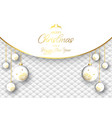luxurious christmas bauble background vector image vector image