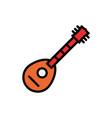 mandolin filled line icon vector image vector image