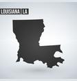 map louisiana isolated black on white background vector image vector image