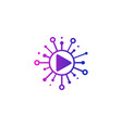 media share logo icon design vector image vector image