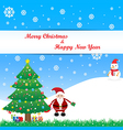 merry christmas and the happy new year vector image vector image