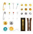 Metal Accessories Set vector image
