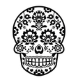 Mexican sugar skull - Polish folk art style vector image vector image