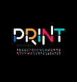 Modern font design trendy alphabet letters and