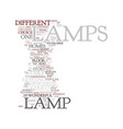 modern lamps text background word cloud concept vector image vector image