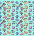 monster pattern seamless cartoon style vector image