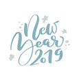 new year 2019 blue christmas vintage calligraphy vector image vector image