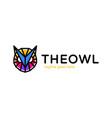owl head poly logo abstract logotype design vector image