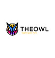 owl head poly logo abstract owl logotype design vector image