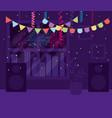 party banner inside home design vector image