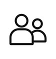 people icon in modern design style for web site vector image