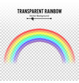 rainbow classic round shape realistic vector image vector image