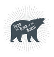 roaring grizzly bear vector image