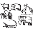Safari Animal set vector image vector image