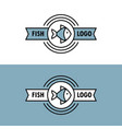 seafood logo with fish icon vector image vector image