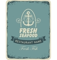 seafood restaurant with an anchor vector image vector image