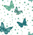 Seamless blue grey butterfly pattern vector image