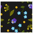 Seamless pattern summer flower vector image vector image