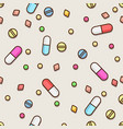 seamless pills pattern medical concept vector image vector image