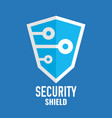 security shield logo technology logotype vector image