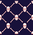 skulls and bones seamless pattern vector image vector image