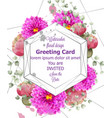 spring flowers wedding card watercolor vector image vector image
