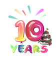 the tenth anniversary vector image vector image