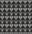 tile pattern with grey hearts on black background vector image